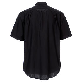 Koszula pod koloratkę krótki rękaw czarna mieszana In Primis s5
