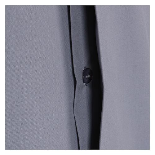 Koszula kapłańska krótki rękaw jasny szary mieszana bawełna In Primis 4