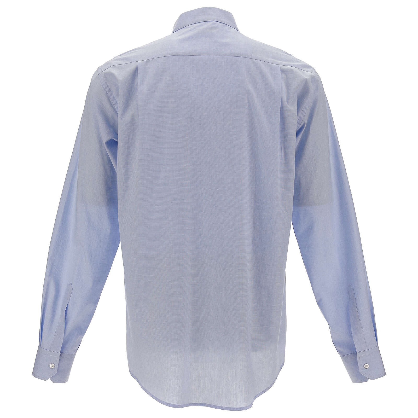 Camisa clergy celeste manga larga 4
