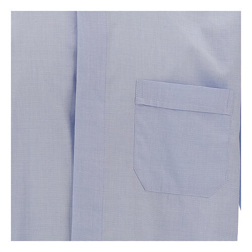 Camisa clergy celeste manga larga 2