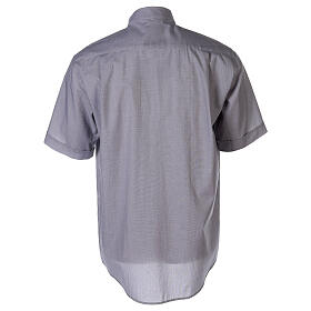 Camisa colarinho clergy filafil cinzento claro manga curta s2