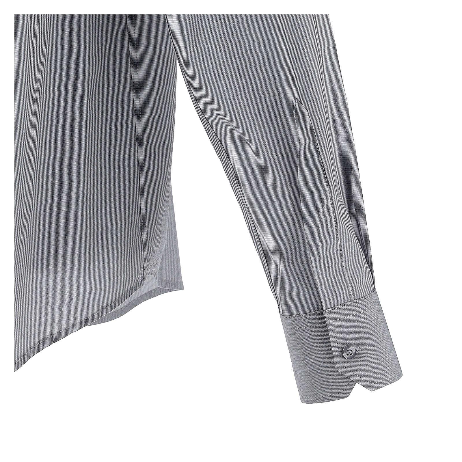 Camisa clergy gris claro manga larga 4