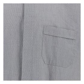 Camicia clergy fil a fil grigio chiaro m. lunga s2