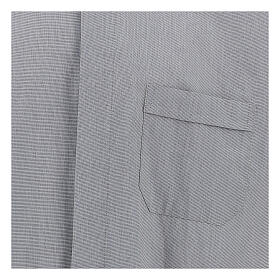 Camisa colarinho clergy filafil cinzento claro manga longa s2