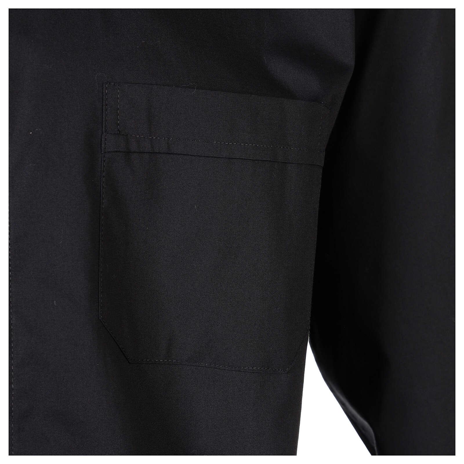 Camisa clergy In Primis elástica algodón m. larga negro 4