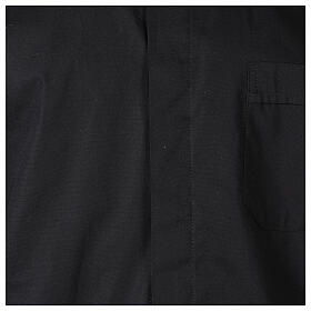Camisa clergy In Primis elástica algodón m. larga negro s2