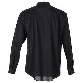Camisa clergy In Primis elástica algodón m. larga negro s6