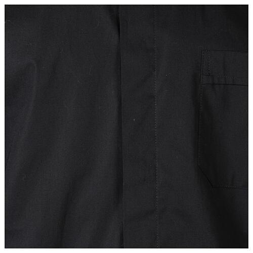 Camisa clergy In Primis elástica algodón m. larga negro 2