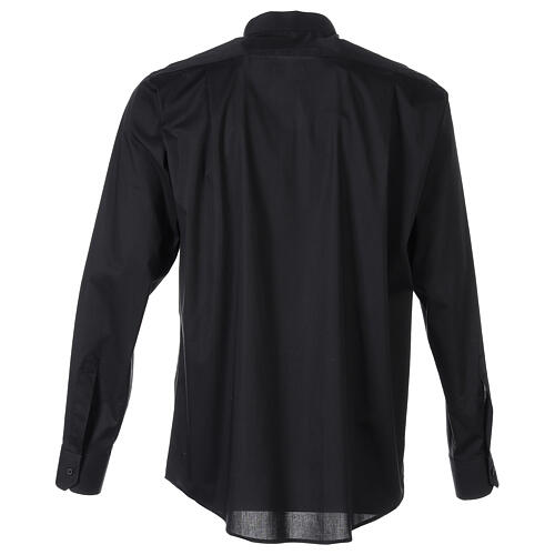 Camisa clergy In Primis elástica algodón m. larga negro 6