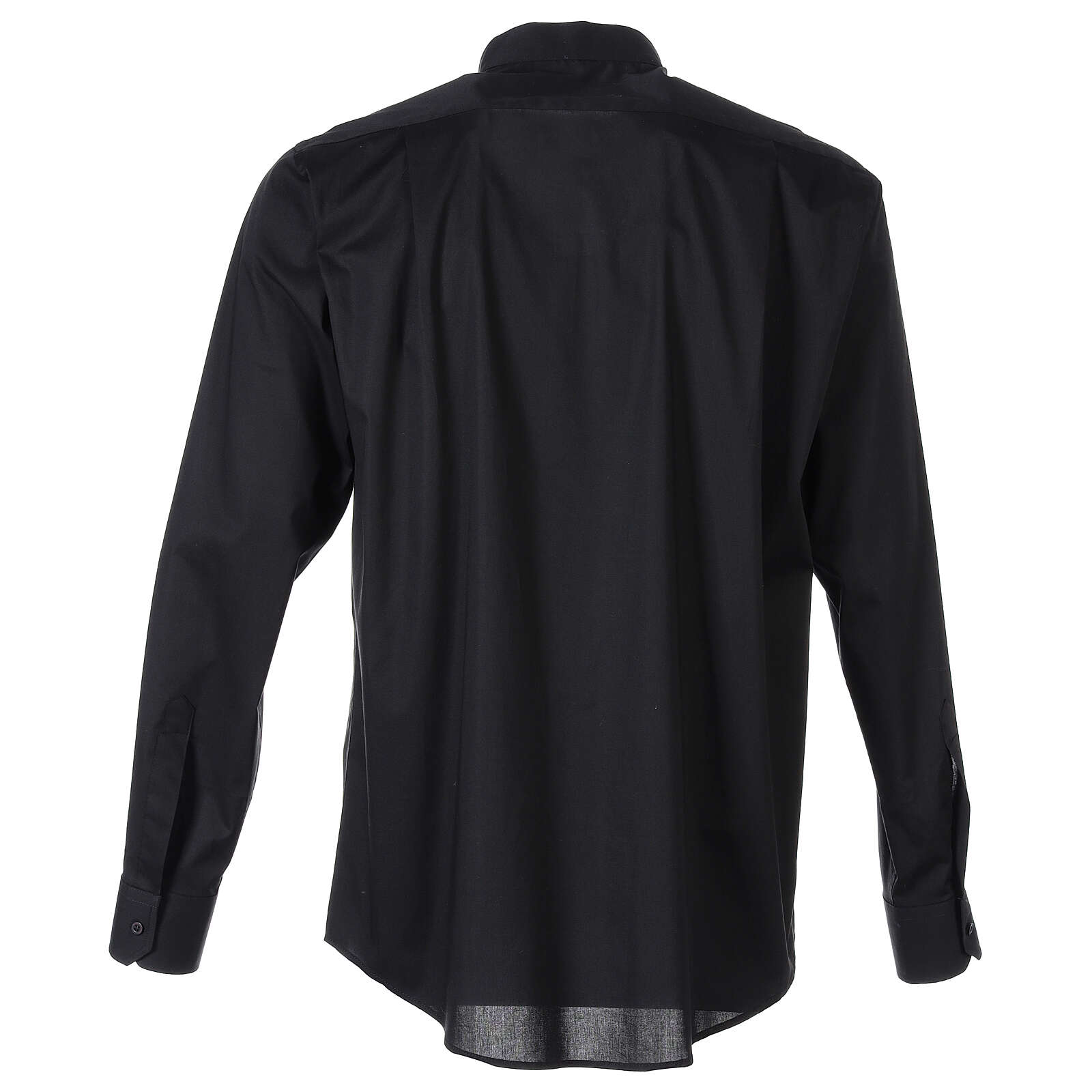 Camicia clergy In Primis elasticizzata cotone m. lunga nero 4