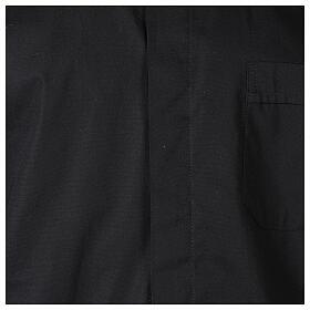 Camicia clergy In Primis elasticizzata cotone m. lunga nero s2