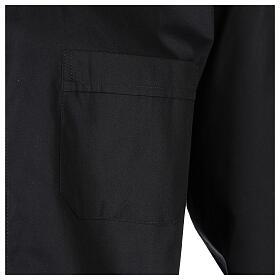 Camicia clergy In Primis elasticizzata cotone m. lunga nero s3