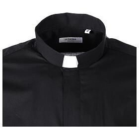 Camicia clergy In Primis elasticizzata cotone m. lunga nero s4