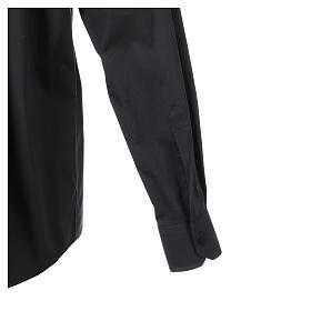 Camicia clergy In Primis elasticizzata cotone m. lunga nero s5