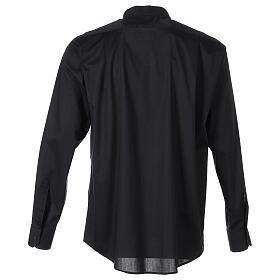Camicia clergy In Primis elasticizzata cotone m. lunga nero s6