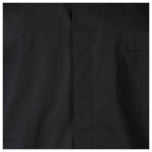 Camicia clergy In Primis elasticizzata cotone m. lunga nero 2