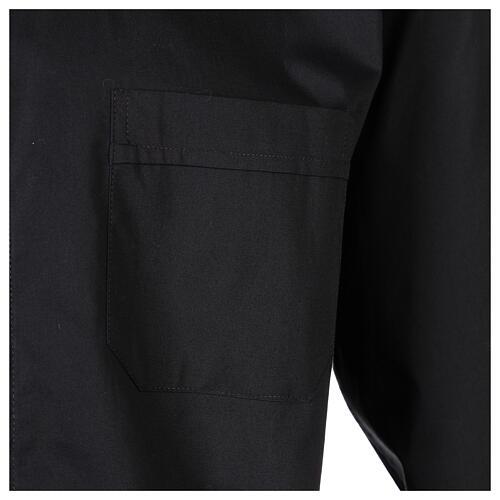 Camicia clergy In Primis elasticizzata cotone m. lunga nero 3