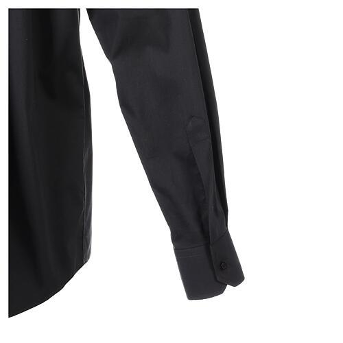 Camicia clergy In Primis elasticizzata cotone m. lunga nero 5
