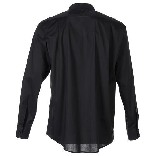 Camicia clergy In Primis elasticizzata cotone m. lunga nero 6