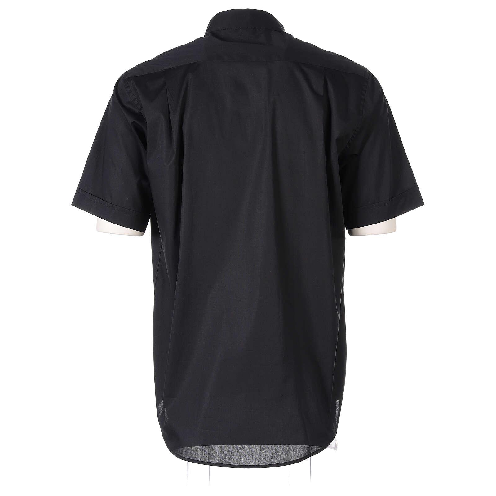 Camicia In Primis elasticizzata cotone mezza manica nero 4