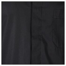 Camicia In Primis elasticizzata cotone mezza manica nero s2