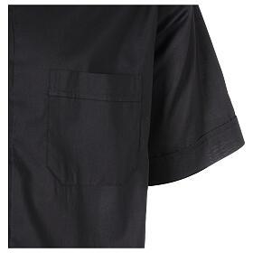 Camicia In Primis elasticizzata cotone mezza manica nero s4
