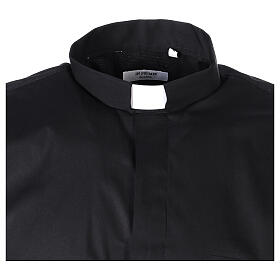 Camicia In Primis elasticizzata cotone mezza manica nero s5