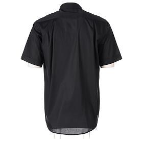 Camicia In Primis elasticizzata cotone mezza manica nero s6