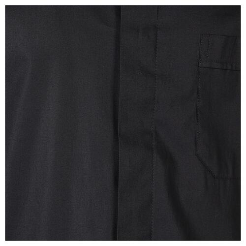 Camicia In Primis elasticizzata cotone mezza manica nero 2