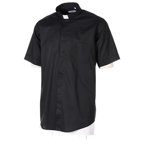 Camicia In Primis elasticizzata cotone mezza manica nero 3
