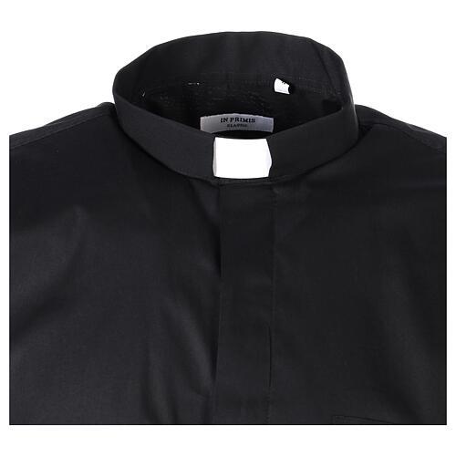 Camicia In Primis elasticizzata cotone mezza manica nero 5