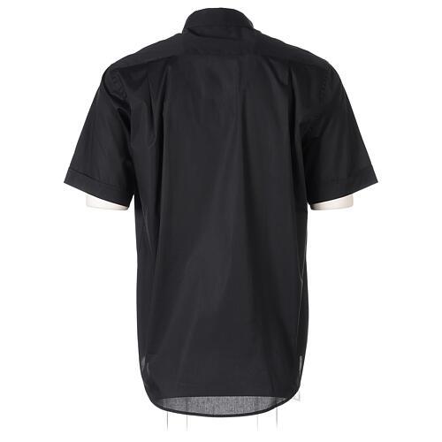 Camicia In Primis elasticizzata cotone mezza manica nero 6