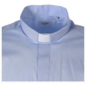 Chemise clergy In Primis élastique coton manches longues bleu clair s6