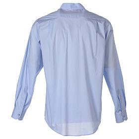 Chemise clergy In Primis élastique coton manches longues bleu clair s7