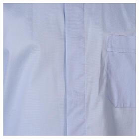 Camicia clergy In Primis elasticizzata cotone m. lunga celeste s2