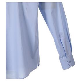 Camicia clergy In Primis elasticizzata cotone m. lunga celeste s5