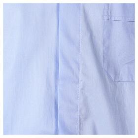 Camicia In Primis elasticizzata cotone manica corta celeste s2