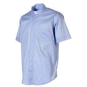 Camicia In Primis elasticizzata cotone manica corta celeste s3