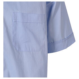 Camicia In Primis elasticizzata cotone manica corta celeste s4