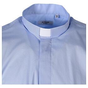Camicia In Primis elasticizzata cotone manica corta celeste s5