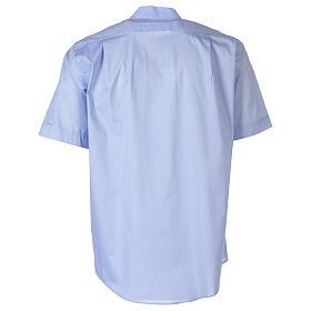 Camicia In Primis elasticizzata cotone manica corta celeste s6