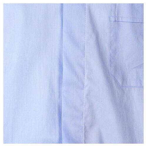Camicia In Primis elasticizzata cotone manica corta celeste 2