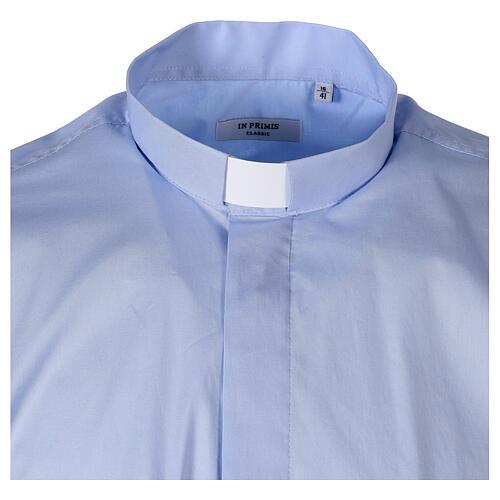 Camicia In Primis elasticizzata cotone manica corta celeste 5