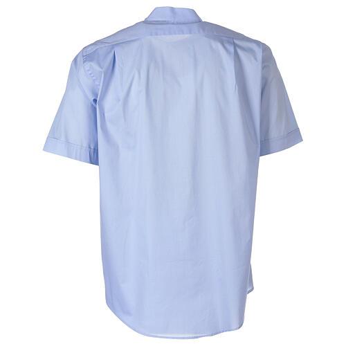 Camicia In Primis elasticizzata cotone manica corta celeste 6