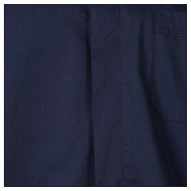 Camisa clergy In Primis elástica algodón manga larga azul s2