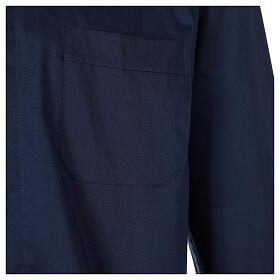 Camisa clergy In Primis elástica algodón manga larga azul s4
