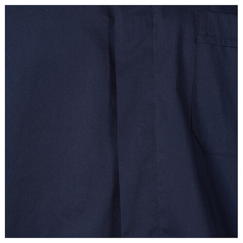Camisa clergy In Primis elástica algodón manga larga azul 2