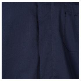 Camicia clergy In Primis elasticizzata cotone manica lunga blu s2