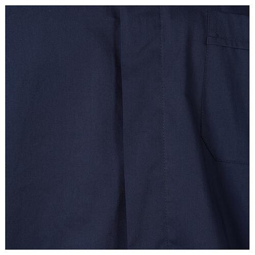 Camicia clergy In Primis elasticizzata cotone manica lunga blu 2