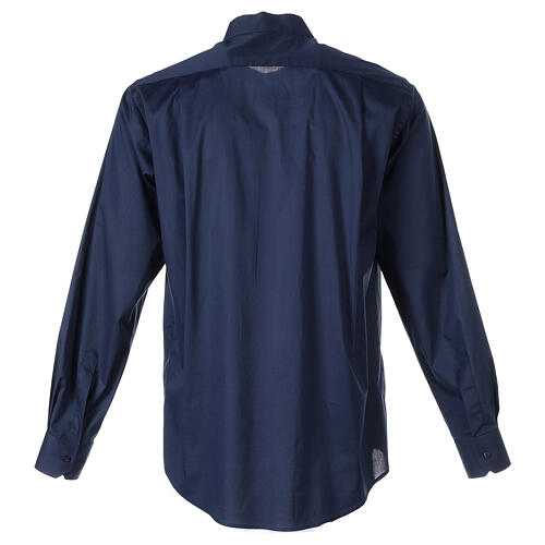 Camicia clergy In Primis elasticizzata cotone manica lunga blu 7